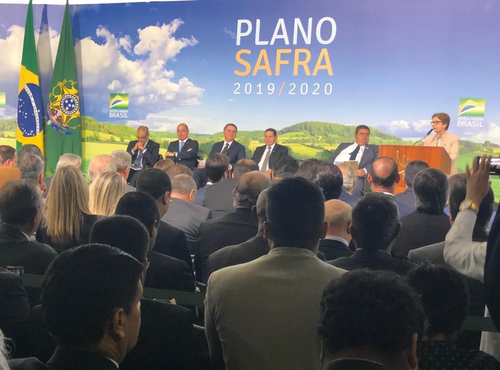 Ematerce: presidente Amorim participa do lançamento do Plano Safra 2019/2020 em Brasília